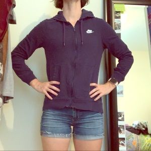 Navy blue nike jacket XS